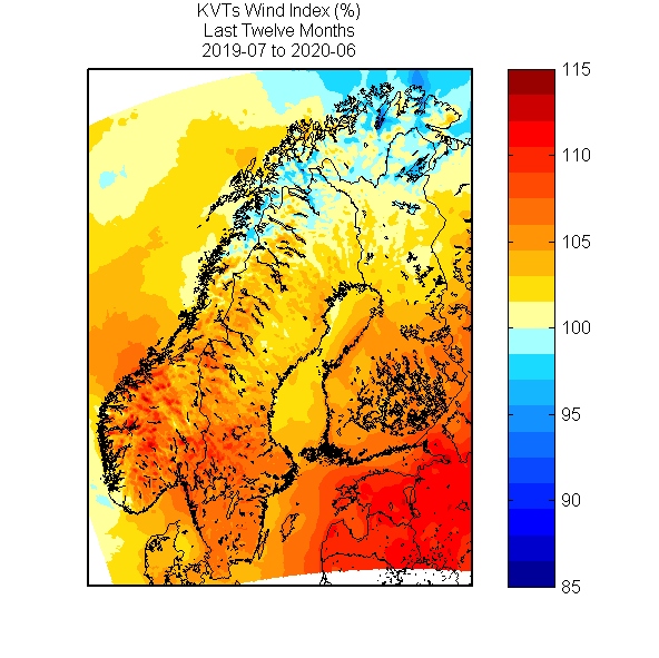 Wind Index 2019-07 to 2020-06