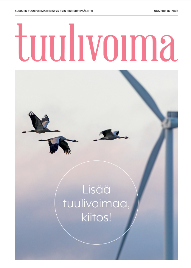 "Kjeller in ""Tuulivoima"" magazine: cost of uncertainty revealed"